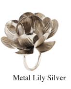 Domain XCIV Exclusives  DINNING AND ENTERTAINMENT METAL LILLY NAPKIN RINGS $10.00