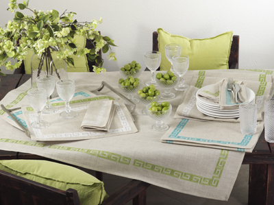 BEIGE GREEK KEY NAPKINS collection with 1 products