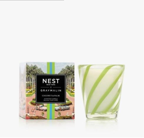 $48.00 NEST X GRAY MALIN COCONUT & PALM CANDLE
