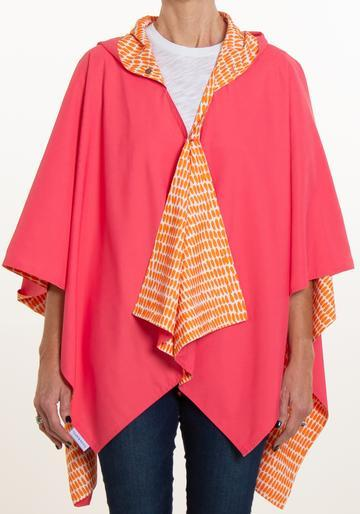 $68.00 HOODED PINK AND CORAL SEEDS RAINRAP