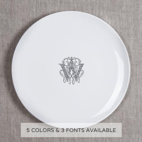 $68.00 DINNER PLATE WITH MONOGRAM