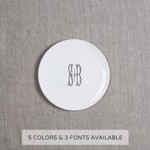 $52.00 PARTY PLATE WITH MONOGRAM