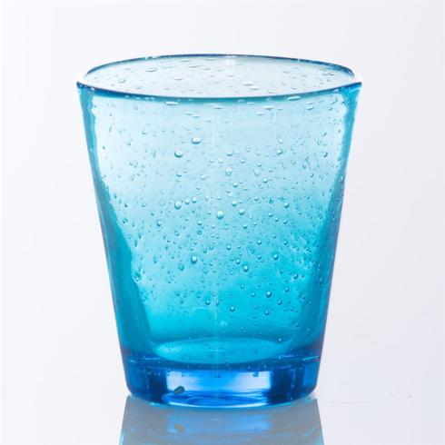 $13.25 SEA BLUE BUBBLE WATER GLASS