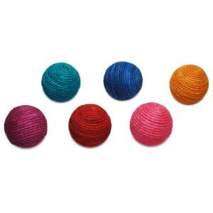 $6.25 COLORED JUTE BALL SMALL ASSORTED