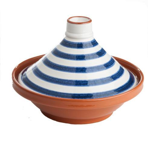 $85.00 BLUE/WHITE STRIPED TAGINE