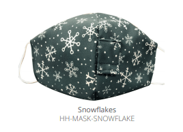 $12.50 SNOWFLAKES FACE MASK