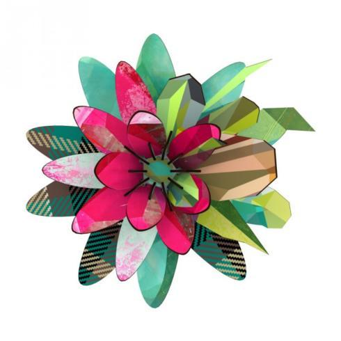 AURORA BOREALIS FLOWER WALL DECOR collection with 1 products