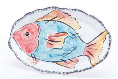 $103.00 BLUE FISH PLATTER NAPOLI COLLECTION