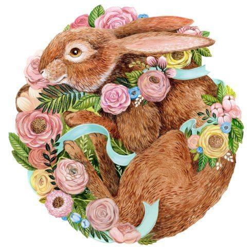 $26.00 Bunny Bouquet Paper Placemats Die-Cut