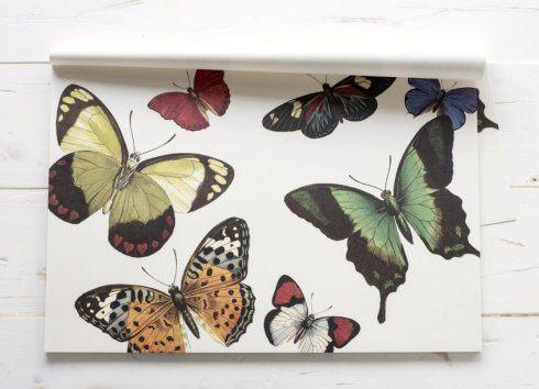 $26.00 Butterflies Paper Placemats Standard