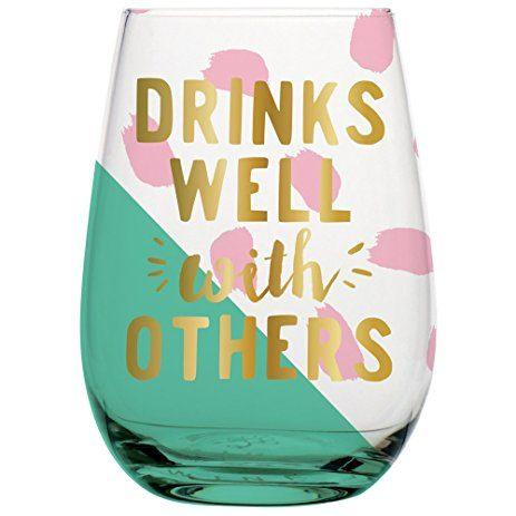 $13.50 Drinks well with others wine glass