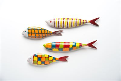 $123.00 CANTINA CERAMIC FISH WALL ART SET OF 4