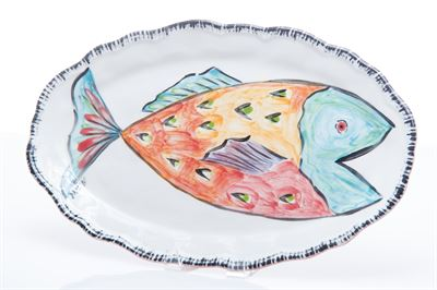 $103.00 RED FISH PLATTER NAPOLI COLLECTION