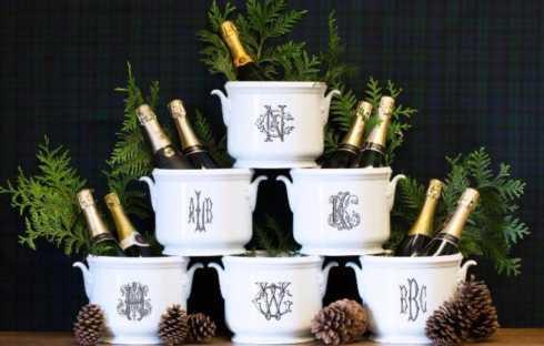 $185.00 Monogrammed Champagne Bucket