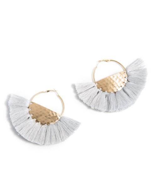 $18.00 GREY ANYA EARRINGS