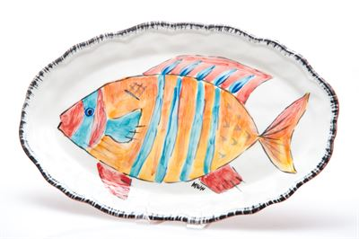 $103.00 STRIPED FISH PLATTER NAPOLI COLLECTION