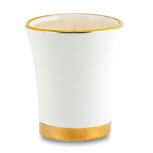 Flared Candle Pure Gold Rim