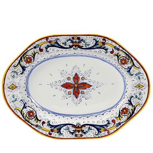 Deruta Of Italy  Ricco Deruta Hexagonal Lg Oval Platter $298.00