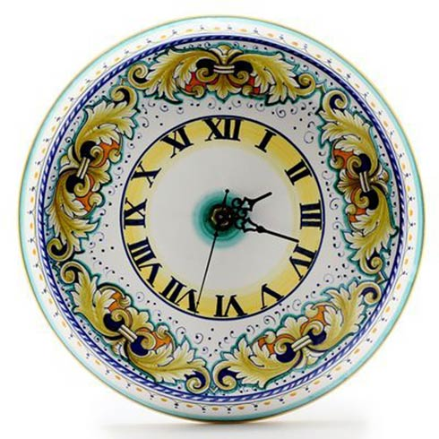 $248.00 Round Wall Clock Dec Foglie Verdi