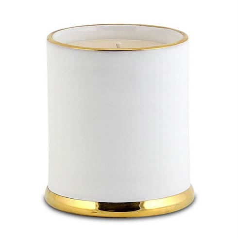 Jar Candle with lid Pure Gold Rim
