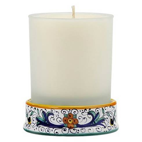 Frosted Glass & Ceramic Base Candle