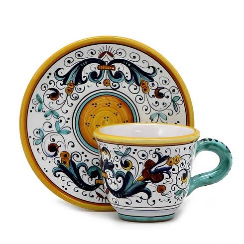 Deruta Of Italy  Ricco Deruta Espresso cup and Saucer $72.00
