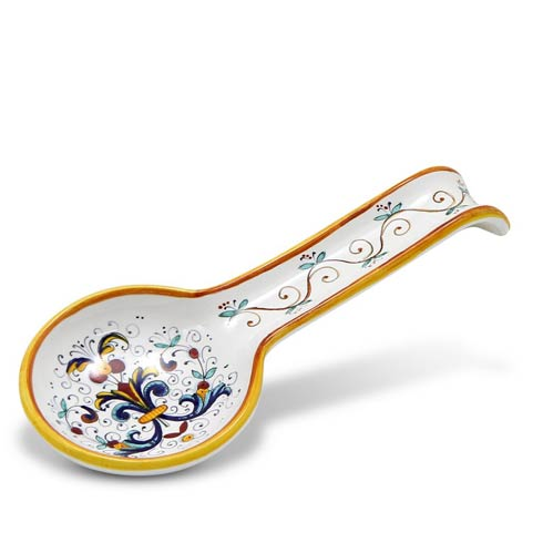 Deruta Of Italy  Ricco Deruta Spoon Rest Large $70.00