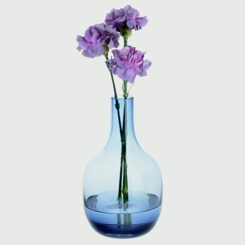 Dartington Crystal  Aurora Vase Collection Large Vase Ink Blue $70.00