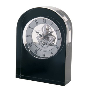 $200.00 Curve Clock Black