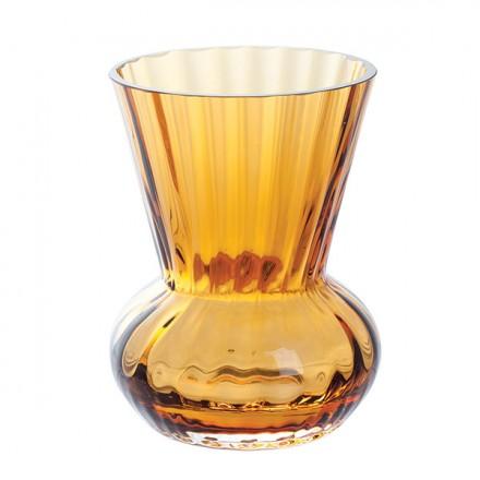 Dartington Crystal  Gems Mini Gems Amber Funnel Vase $25.00
