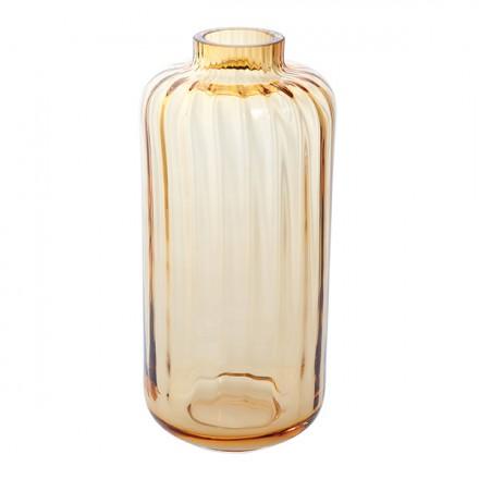 Dartington Crystal  Gems Gems Large Amber Lantern Vase $40.00