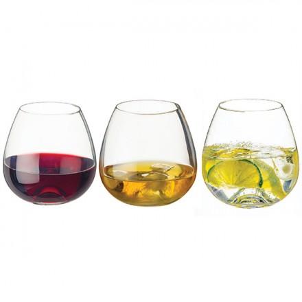 WaterWhiskeyWine.Tumbler.Three S/3 Glasses