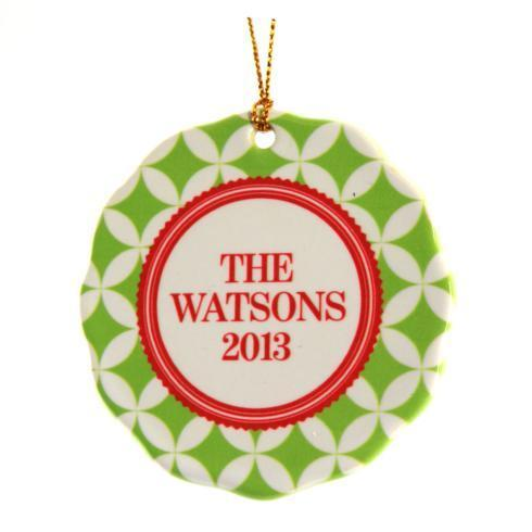 $16.00 Ornament-Lime/Red