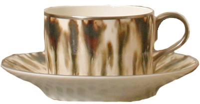 Cream Scale Platinum Tea Saucer
