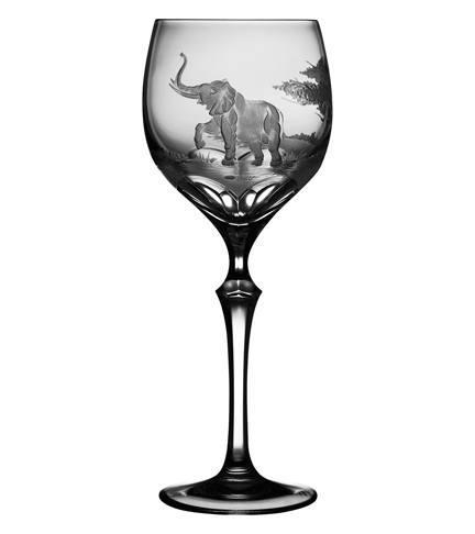 $250.00 Elephant Wine Glass