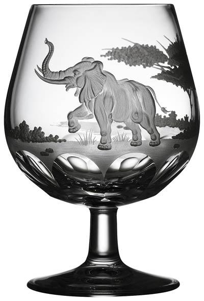 $250.00 Elephant Brandy Snifter