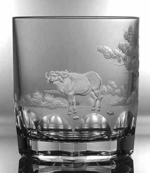 $250.00 Buffalo Double Old Fashioned Glass