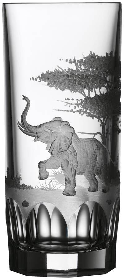 $250.00 Elephant Highball Glass