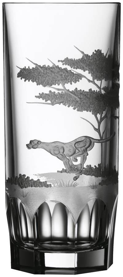 $250.00 Cheetah Highball Glass