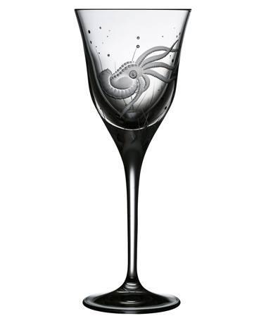 $125.00 Octopus Wine Glass