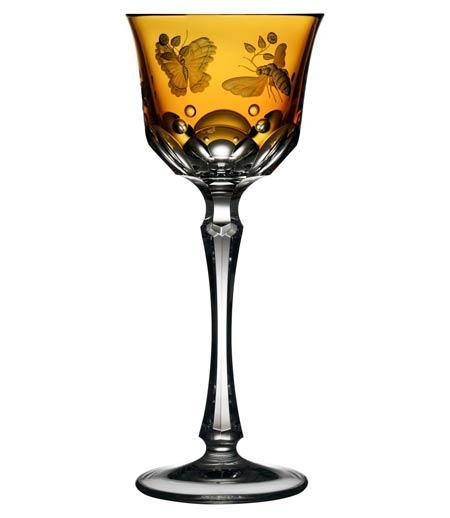 $264.00 Amber Wine Glass