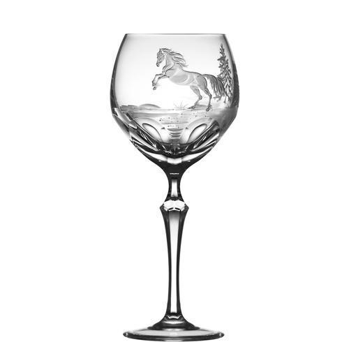 $250.00 Apaloosa Horse Water Goblet