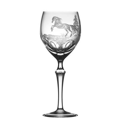 $250.00 Apaloosa Horse Wine Glass