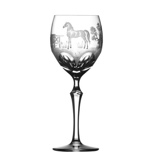 $250.00 Morgan Horse Wine Glass