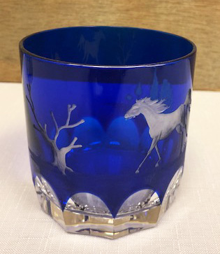 $298.00 Quarter Horse Cobalt Double Old Fashioned