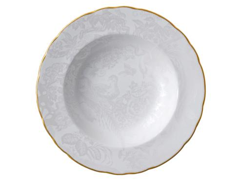 Royal Crown Derby  Aves - Pearl Rim Soup Plate $100.00