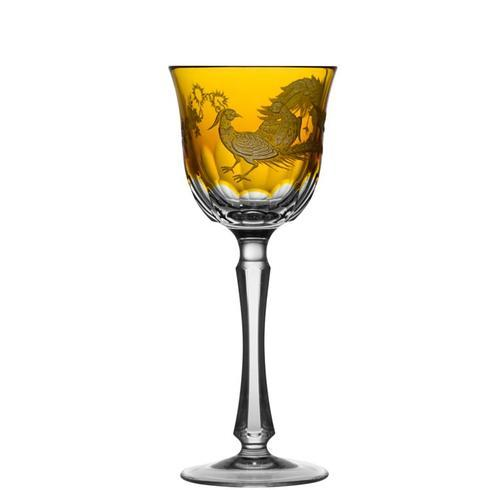 $398.00 Amber Wine Glass