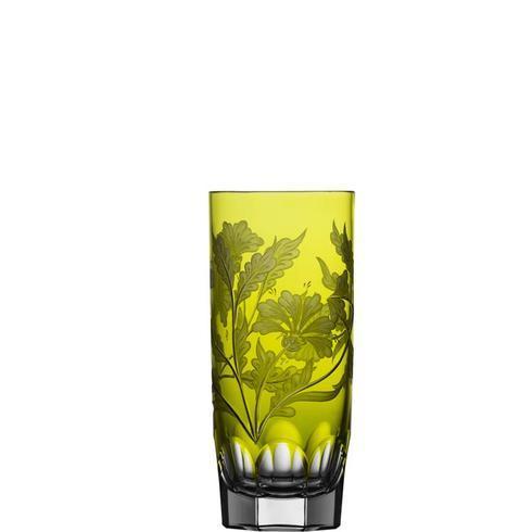 $298.00 Yellow/Green Highball Glass