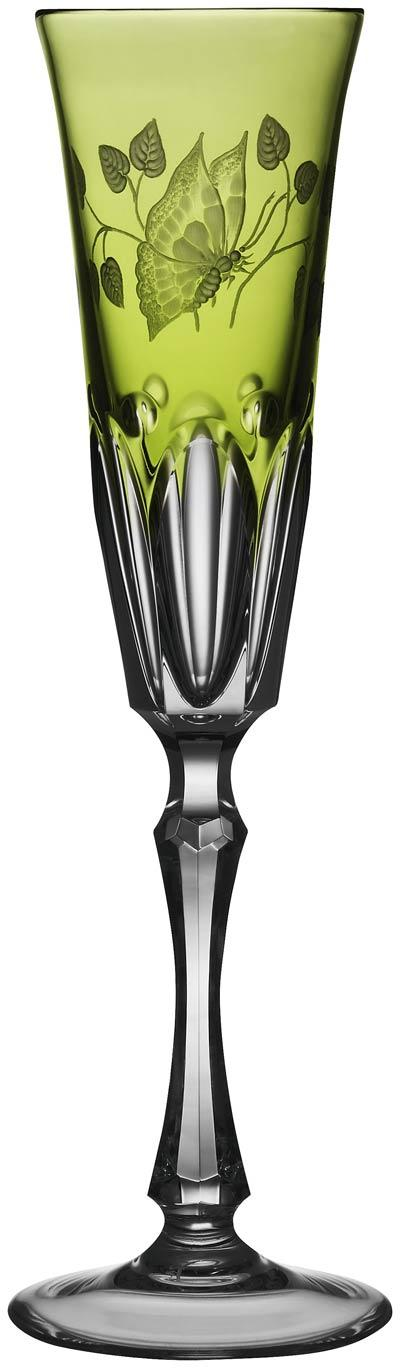 $248.00 Yellow/Green Champagne Flute