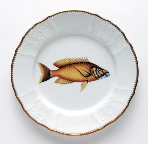 $405.00 Gold/Lavender Dinner Plate